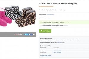 Constance Fleece Bootie Slippers