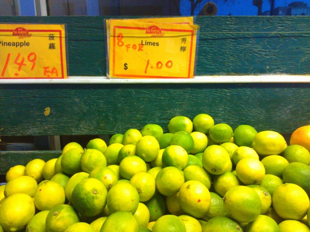 eight lime for one dollar