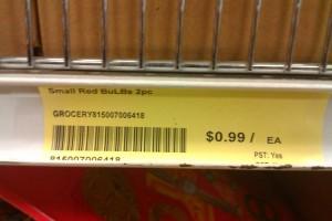 red lightbulb 99 cent